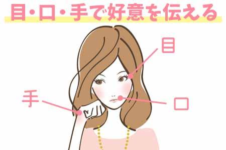 好きと言わずに好意を伝えるには『目・口・手』を使え